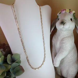 Jewelry - Reversible 14K YG & SS Braided Herringbone Chain